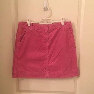 Bright Pink J Crew Corduroy Skirt